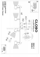 Светильник на 4 лампы Globo 56041-4 Rachel