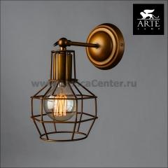Светильник настенный бра Arte lamp A9182AP-1BZ INTERNO