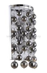 Светильник настенный бра Crystal lux MALLORCA AP2 CHROME/SMOKE 2320/402