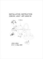 Светильник настенный бра Odeon light 2845/1W BAHAR