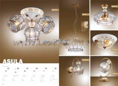 Светильник настольный Odeon light 2278/1T коричневый Asula
