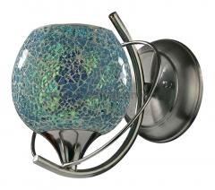 Светильник Odeon Light 2095/1W Mosaic хром/бирюзовый