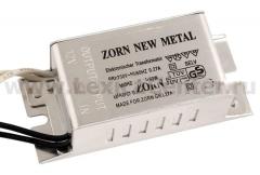 Трансформатор для галогенных ламп ZORN NEW Metal 60w 220/12v