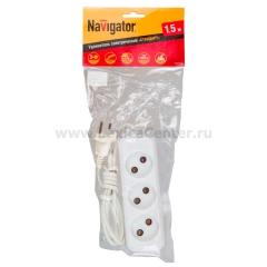 Удлинитель Navigator 71 452 NPE-S1-03-300-E-3x0.75 с/з 3 гн. 3м