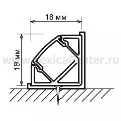 Угловой профиль для светодиодной ленты Электростандарт LL-2-ALP004