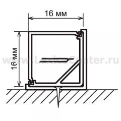 Угловой профиль для светодиодной ленты LL-2-ALP003 Электростандарт