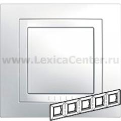 Unica Бел Рамка 5-ая с декор.элементом MGU2.010.18