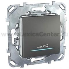 Unica Top Графит Светорегулятор нажимной 20-350W MGU5.515.12ZD