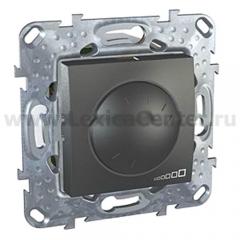 Unica Top Графит Светорегулятор повор. 1000W для л/н и г/л с обмот. тр-м MGU5.512.12ZD