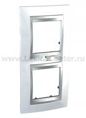 Unica Top Нордик Рамка 2-ая вертикальная MGU66.004V.092