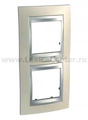 Unica Top Опал Рамка 2-ая вертикальная MGU66.004V.095