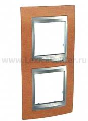 Unica Top Вишня Рамка 2-ая вертикальная MGU66.004V.0M2