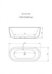 Ванна BT-61117B-White