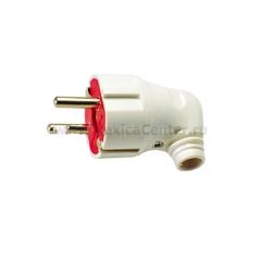 Вилка электрическая косая с з/к ASD 4152