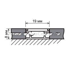 Встраиваемый профиль для светодиодной ленты LL-2-ALP002 Электростандарт