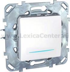 Выключатель 1-клавишный с подсветкой Unica белый (сх.1) MGU5.201.18NZD
