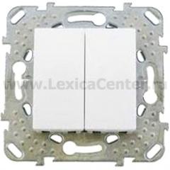 Выключатель 2-клавишный белый MGU5.211.18ZD