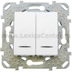 Выключатель 2-клавишный с подсветкой (сх 5) MGU5.0101.18NZD