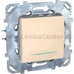 Выключатель/Переключатель 1-клавишный с подсветкой MGU5.203.25NZD