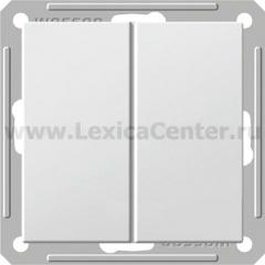 Выключатель Wessen 59 двухклавишный белый (VS516-252-1-86)