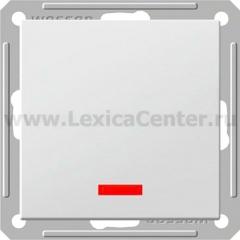 Выключатель Wessen 59 одноклавишный с индикацией белый (VS116-153-1-86)