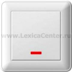 Выключатель Wessen 59 одноклавишный с индикацией белый (VS116-153-18)