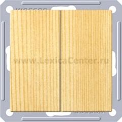 Выключатель Wessen 59 с/у без рамки 2КЛ. (250В, 16АХ) сосна (VS516-252-7-86)