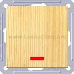 Выключатель Wessen 59 с/у без рамки одноклавишный c индик. сосна (VS116-153-7-86)
