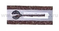 Zamel Кнопка звонка 1-я декоративная прямоугольная (темный) (PDK 250/1(темный))