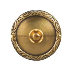 Zamel Кнопка звонка (медь) с круглой табличкой (PDM 231)